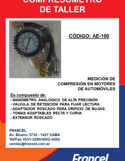 Compresómetro de taller AE-100