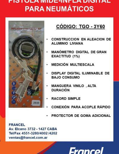 Pistola mide infla digital TGO - 3Y60