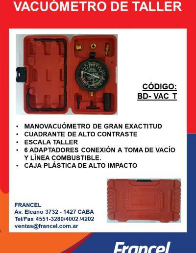 Vacuómetro de taller BD VAC T