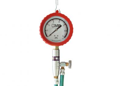 Medidor de presión de combustible con Glicerina