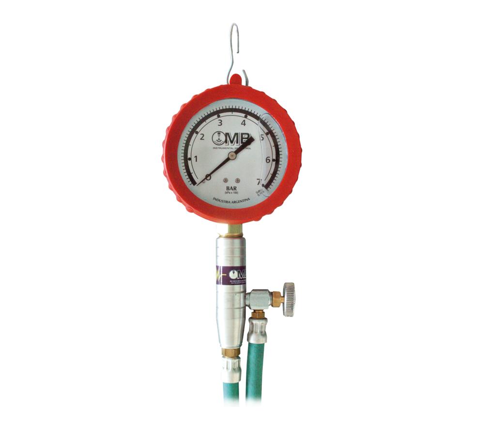 medidor de presión de combustible con glicerina - Línea Automotor
